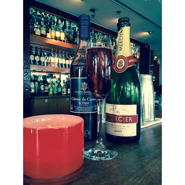 Today we're serving Kir Royal for lunch. #edmondbriottet #cassis #mercier #avalon #avalonhotel #designhotels