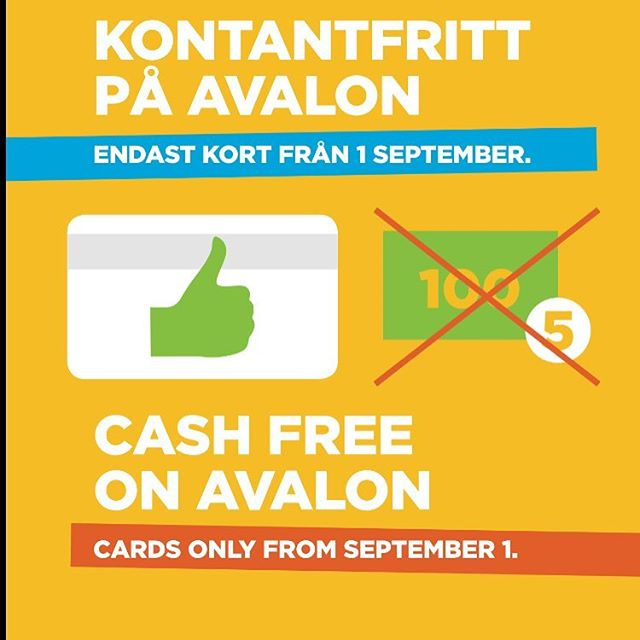 Den 1 september 2016 blir @avalonhotel kontantfritt. Det går fortsatt bra att betala med kort och vi hoppas kunna erbjuda digitala betalningsalternativ framöver. On September 1st 2016 @avalonhotel will no longer accept cash as payment. We will accept all major credit cards and hope to be able to offer digital payment solutions in the near future. @avalonhotel @nordichotels @nordicchoice @design_hotels #avalon_gbg #designhotels #madebyoriginals #hotelavalon #avalon #avalonhotel #göteborg #gothenburg #neveraverage #attitudeiseverything